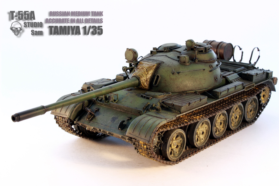 TAMIYA 1/35 T-55A  RUSSIAN MEDIUM TANK T55A1