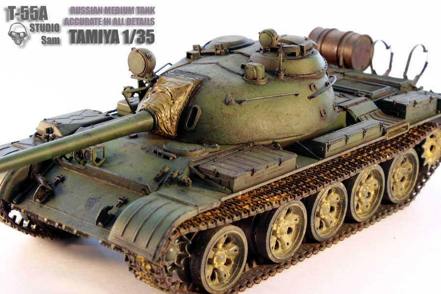 TAMIYA 1/35 T-55A  RUSSIAN MEDIUM TANK T55A2