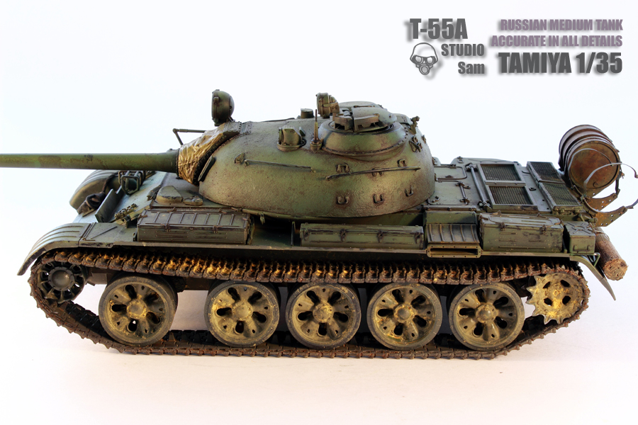 TAMIYA 1/35 T-55A  RUSSIAN MEDIUM TANK T55A3