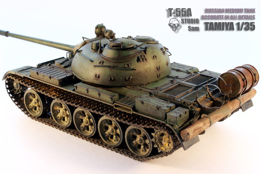 TAMIYA 1/35 T-55A  RUSSIAN MEDIUM TANK T55A4