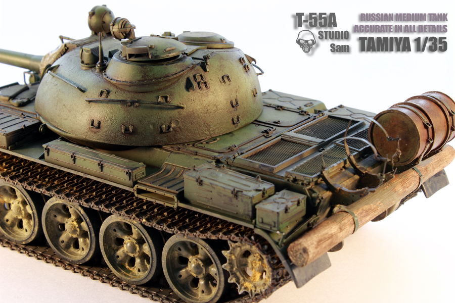 TAMIYA 1/35 T-55A  RUSSIAN MEDIUM TANK T55A5