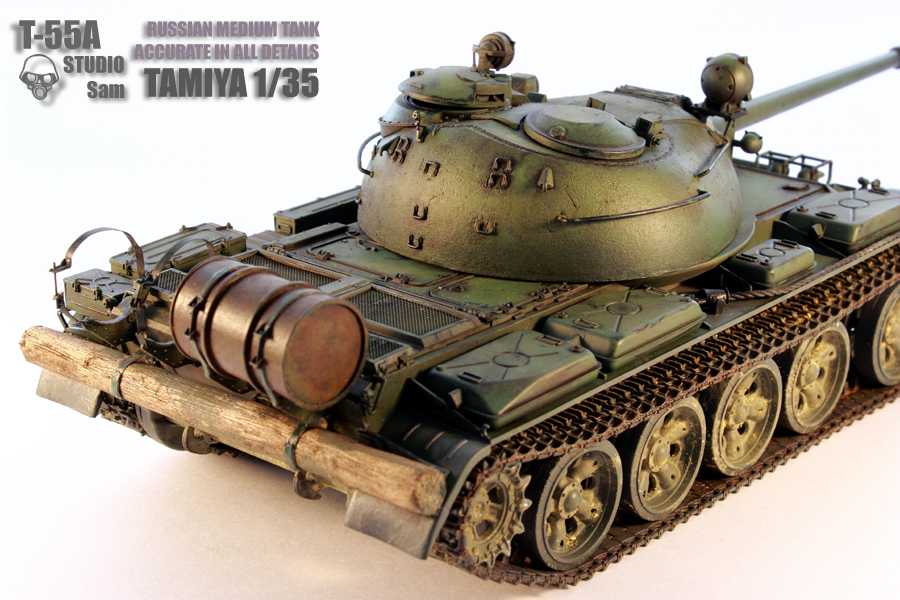 TAMIYA 1/35 T-55A  RUSSIAN MEDIUM TANK T55A6
