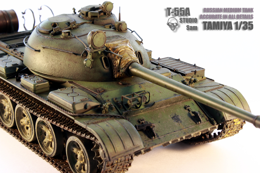 TAMIYA 1/35 T-55A  RUSSIAN MEDIUM TANK T55A9