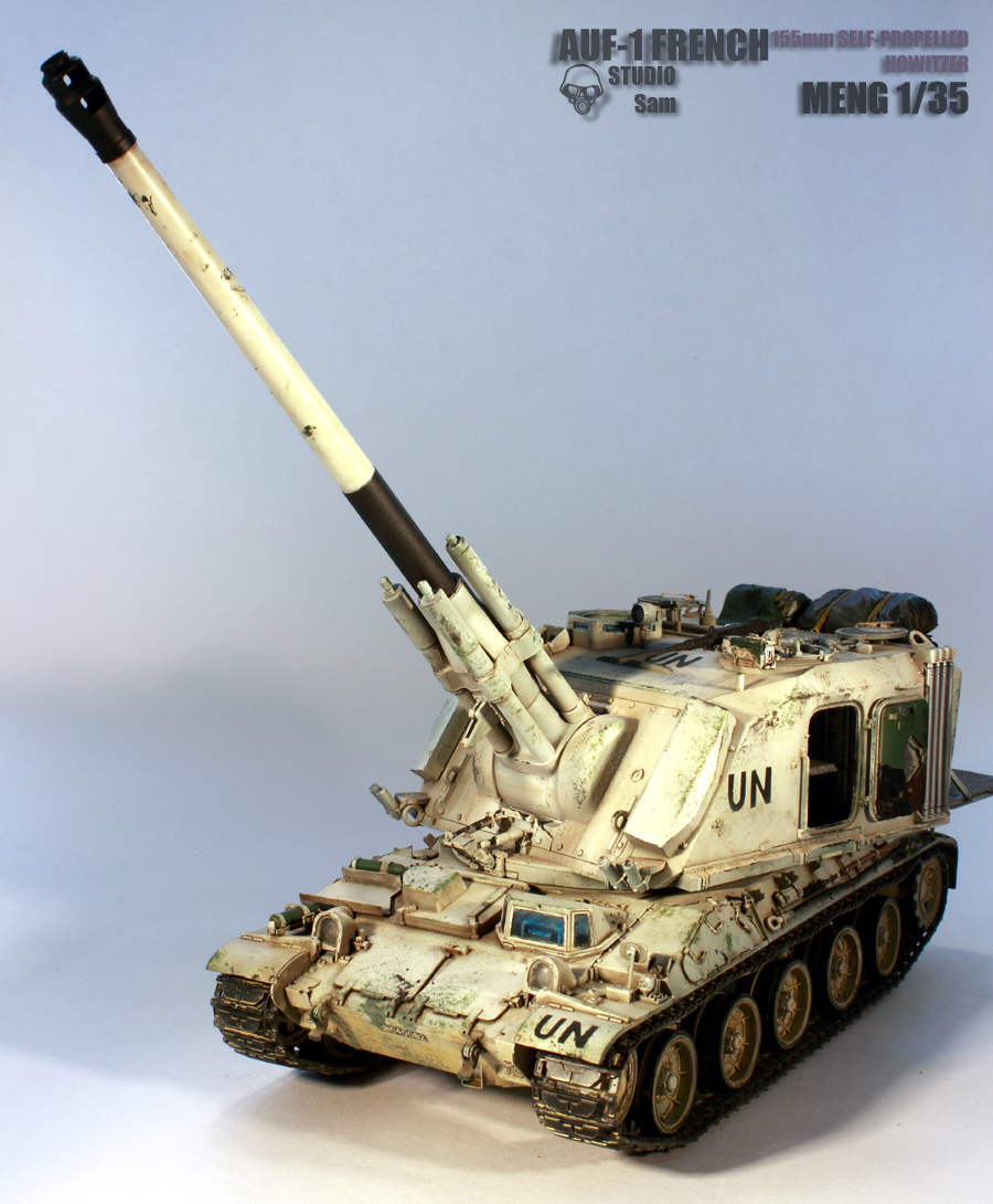 MENG 1/35. AUF1 FRENCH 155mm Self Propelled Howitzer Auf11