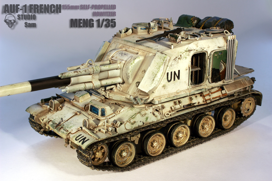 MENG 1/35. AUF1 FRENCH 155mm Self Propelled Howitzer Auf13
