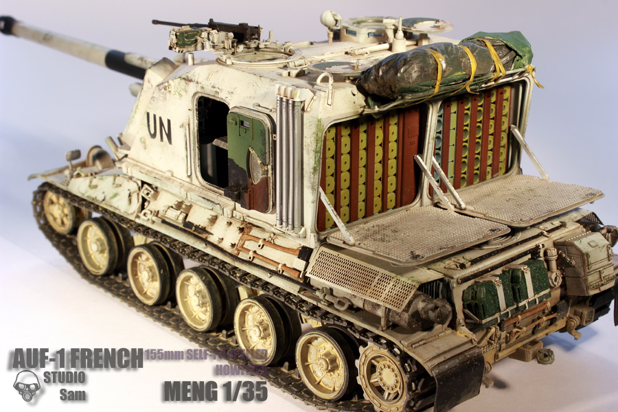 MENG 1/35. AUF1 FRENCH 155mm Self Propelled Howitzer Auf14