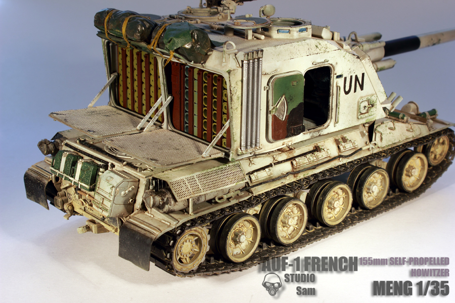 MENG 1/35. AUF1 FRENCH 155mm Self Propelled Howitzer Auf15