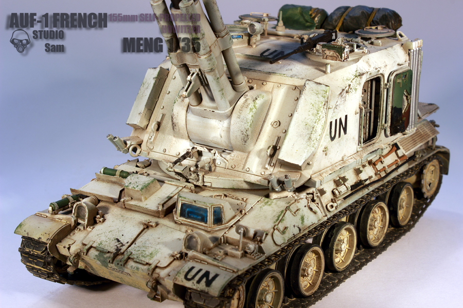 MENG 1/35. AUF1 FRENCH 155mm Self Propelled Howitzer Auf17