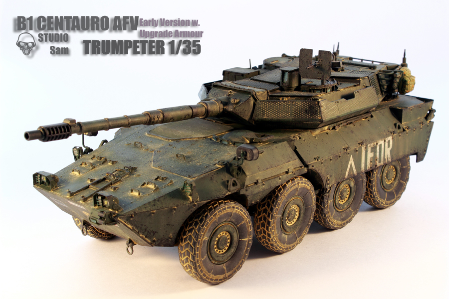 TRUMPETER 1/35 CENTAURO AFV Early Version with Uprgade Armour Centauro1