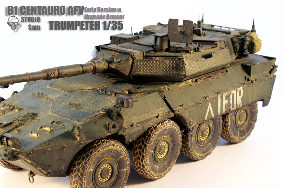 TRUMPETER 1/35 CENTAURO AFV Early Version with Uprgade Armour Centauro2