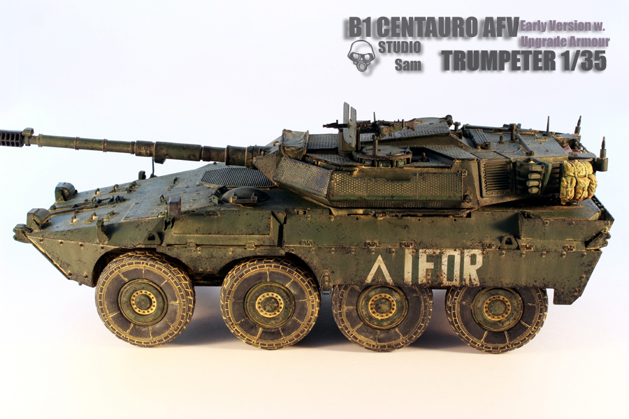 TRUMPETER 1/35 CENTAURO AFV Early Version with Uprgade Armour Centauro3