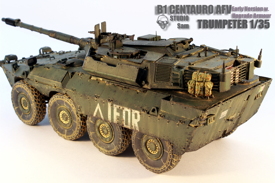TRUMPETER 1/35 CENTAURO AFV Early Version with Uprgade Armour Centauro4