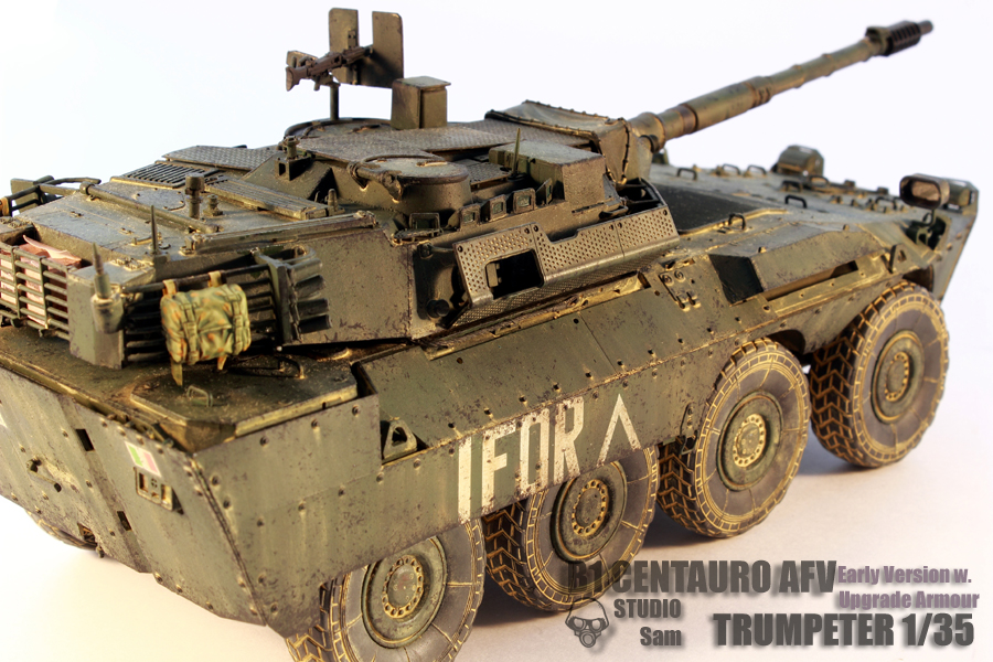 TRUMPETER 1/35 CENTAURO AFV Early Version with Uprgade Armour Centauro6