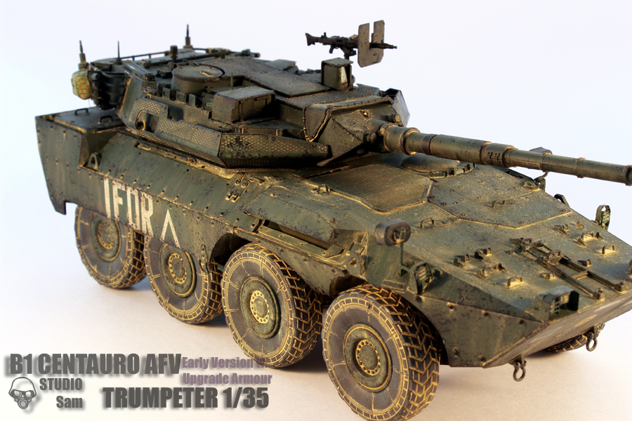 TRUMPETER 1/35 CENTAURO AFV Early Version with Uprgade Armour Centauro7