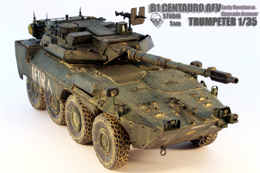 TRUMPETER 1/35 CENTAURO AFV Early Version with Uprgade Armour Centauro8