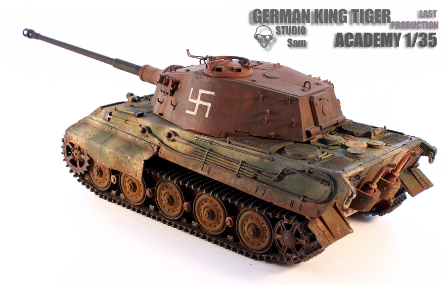 TRUMPETER 1/35 KING TIGER LAST PRODUCTION King3