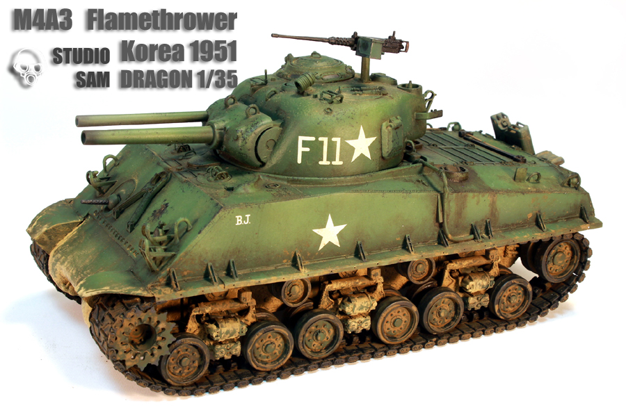 DRAGON 1/35 M4A3 FlameThrower Korea 1951 M4a31