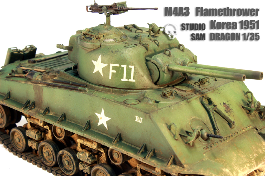 DRAGON 1/35 M4A3 FlameThrower Korea 1951 M4a35